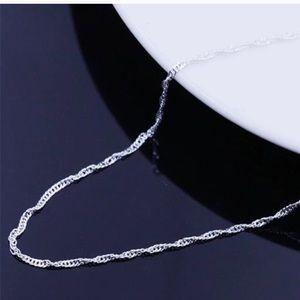 Diamond Cut Sterling Silver Chain